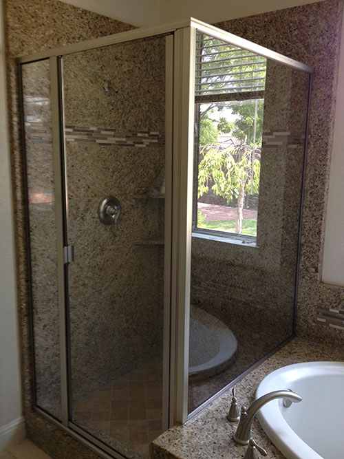 Custom Framed Shower Door in Sacramento